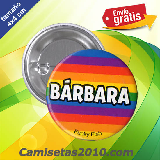 CHAPA PINS COLOR 4x4 BARBARA