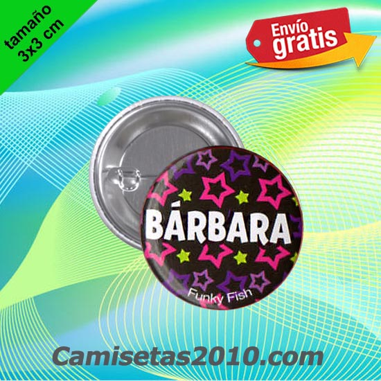 CHAPA PINS COLOR 3x3 BARBARA
