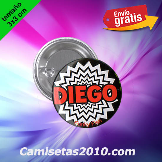 CHAPA PINS COLOR 3x3 DIEGO-