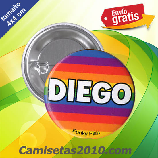 CHAPA PINS COLOR 4cm DIEGO
