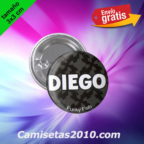 CHAPA PINS COLOR 3x3 DIEGO