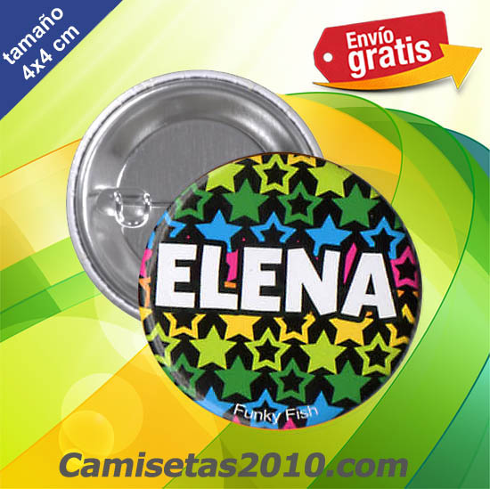 CHAPA PINS COLOR 4x4 ELENA