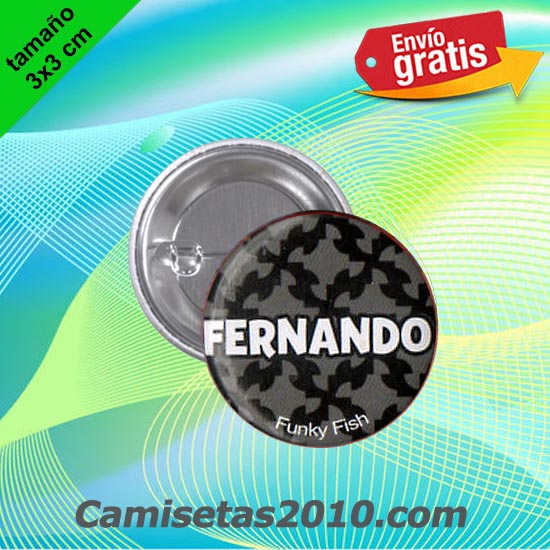 CHAPA PINS COLOR 3x3 FERNANDO-