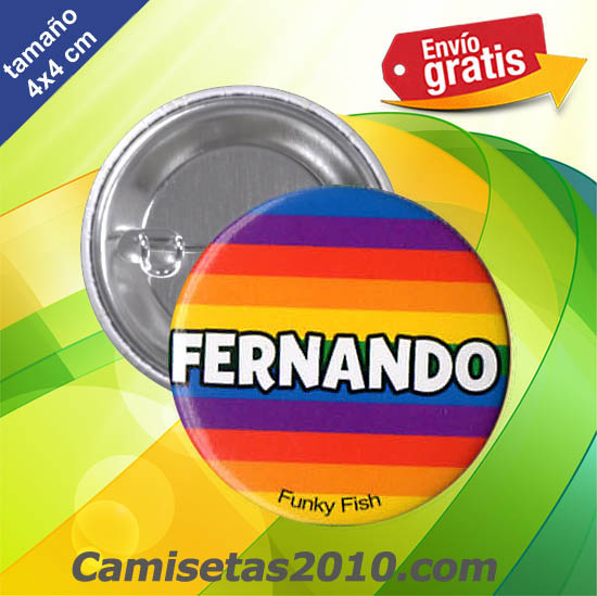 CHAPA PINS COLOR 4x4 FERNANDO