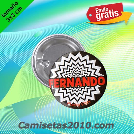 CHAPA PINS COLOR 3x3 FERNANDO