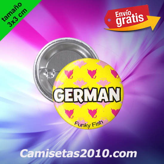 CHAPA PINS COLOR 3x3 GERMAN