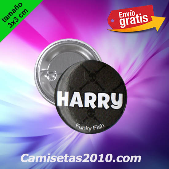 CHAPA PINS COLOR 3x3 HARRY-