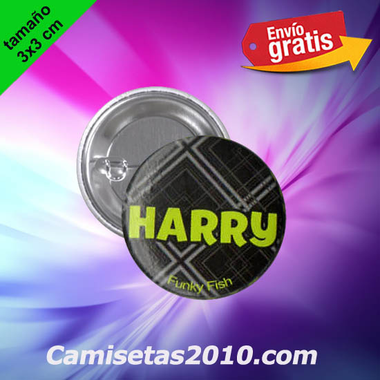 CHAPA PINS COLOR 3x3 HARRY