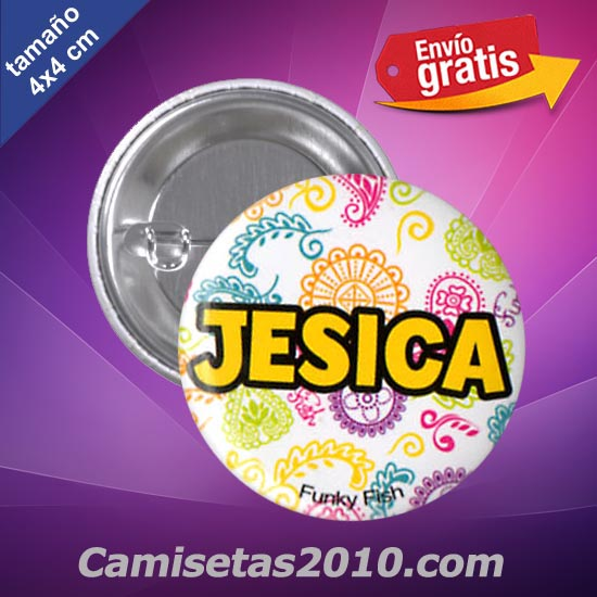 CHAPA PINS COLOR 4x4 JESICA