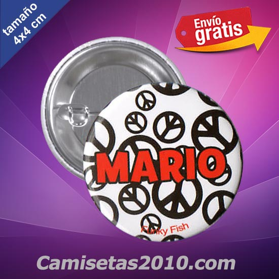 CHAPA PINS COLOR 4x4 MARIO