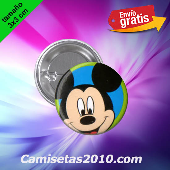 CHAPA PINS COLOR 3x3 CABEZA RATON MICKEY-1
