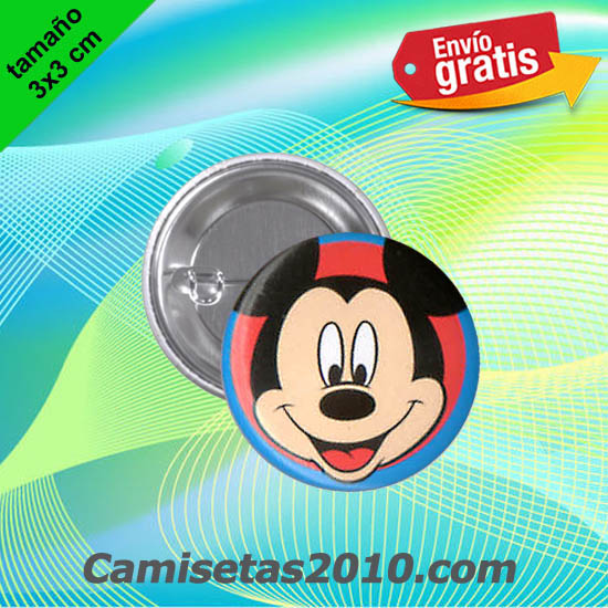 CHAPA PINS COLOR 3x3 CABEZA RATON MICKEY-2