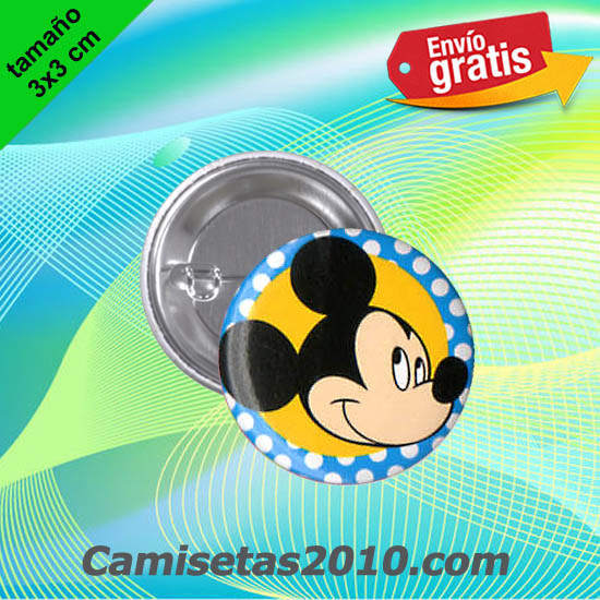 CHAPA PINS COLOR 3x3 CABEZA RATON MICKEY-4