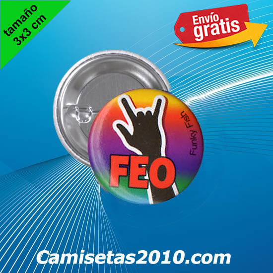 CHAPA PINS COLOR 3x3 FEO