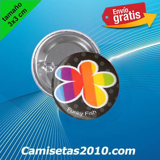 CHAPA PINS COLOR 3x3 FLOR COLORES
