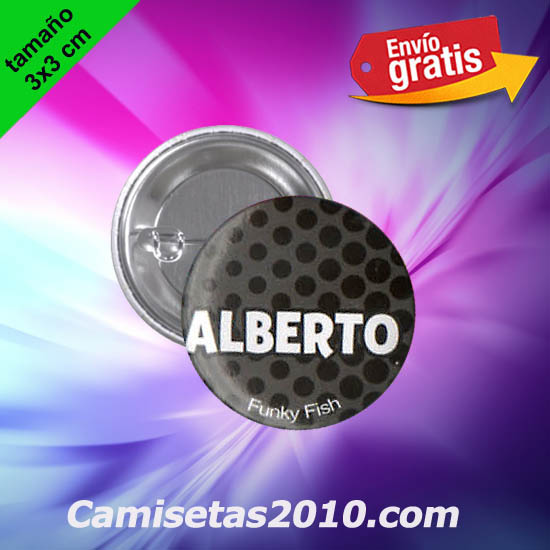 CHAPA PINS COLOR 3x3 ALBERTO-