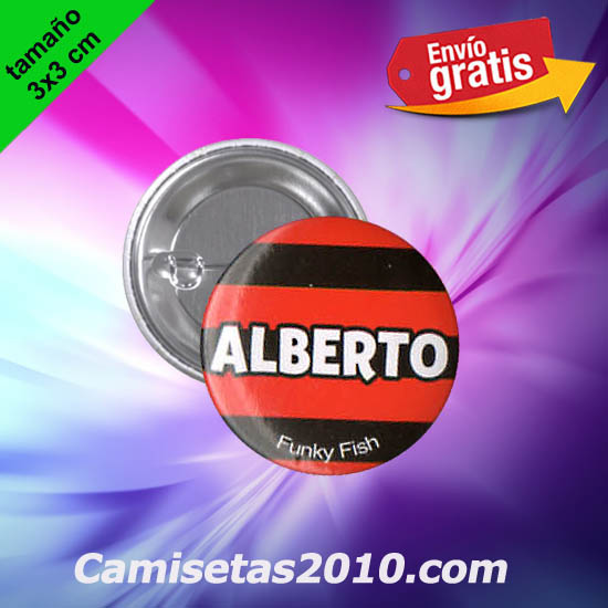 CHAPA PINS COLOR 3x3 ALBERTO