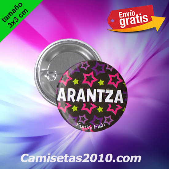 CHAPA PINS COLOR 3x3 ARANTZA-