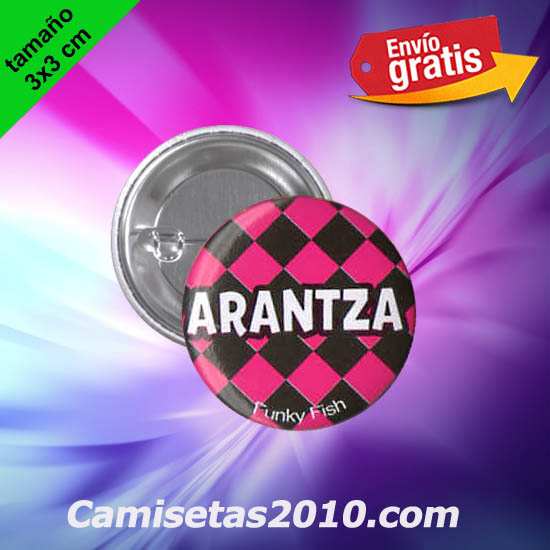 CHAPA PINS COLOR 3x3 ARANTZA