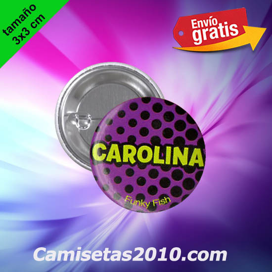 CHAPA PINS COLOR 3x3 CAROLINA-