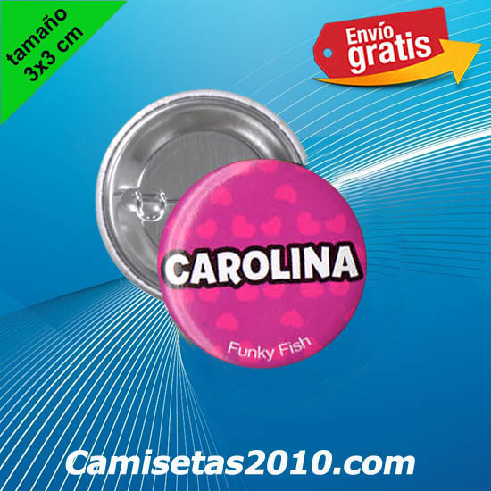 CHAPA PINS COLOR 3x3 CAROLINA