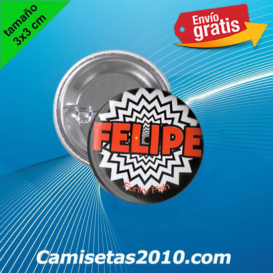 CHAPA PINS COLOR 3x3 FELIPE