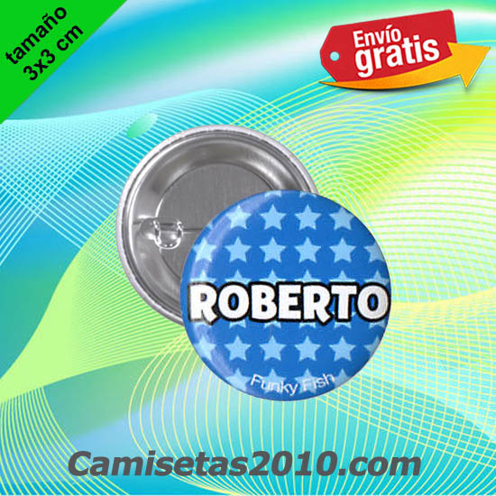 CHAPA PINS COLOR 3x3 ROBERTO-