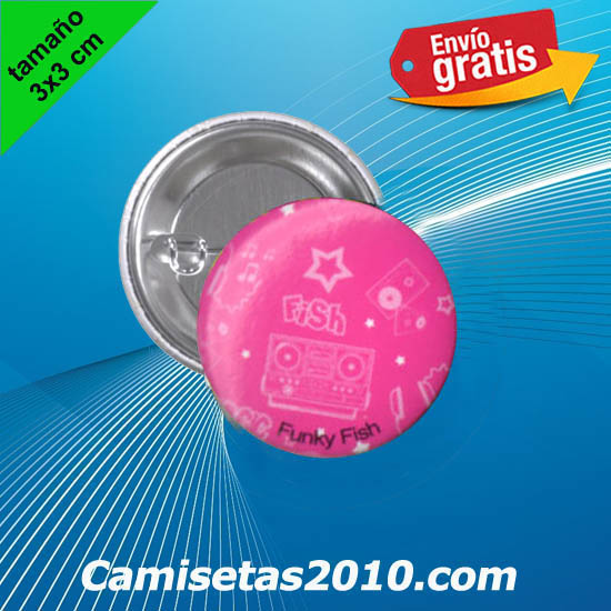 CHAPA PINS COLOR 3x3 RADIOCASETTE