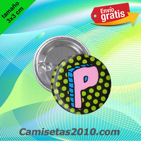 CHAPA PINS COLOR 3x3 MICKEY LETRA P