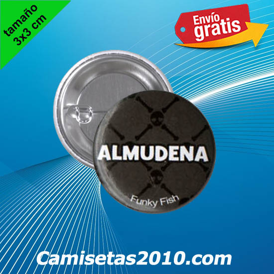 CHAPA PINS COLOR 3x3 ALMUDENA-