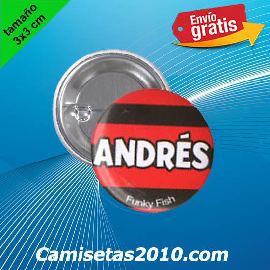 CHAPA PINS COLOR 3x3 ANDRES