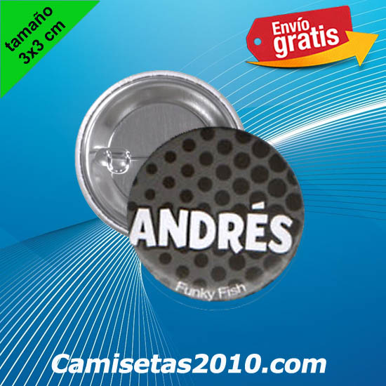 CHAPA PINS COLOR 3x3 ANDRES-