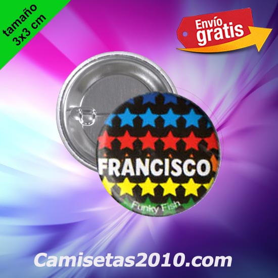 CHAPA PINS COLOR 3x3 FRANCISCO-