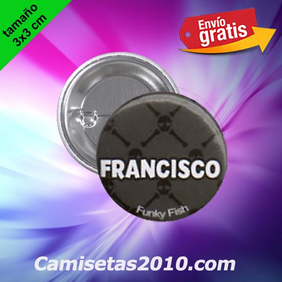 CHAPA PINS COLOR 3x3 FRANCISCO
