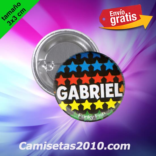 CHAPA PINS COLOR 3x3 GABRIEL-