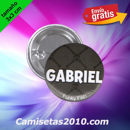 CHAPA PINS COLOR 3x3 GABRIEL