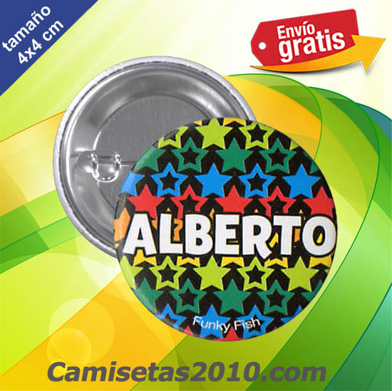 CHAPA PINS COLOR 4cm ALBERTO