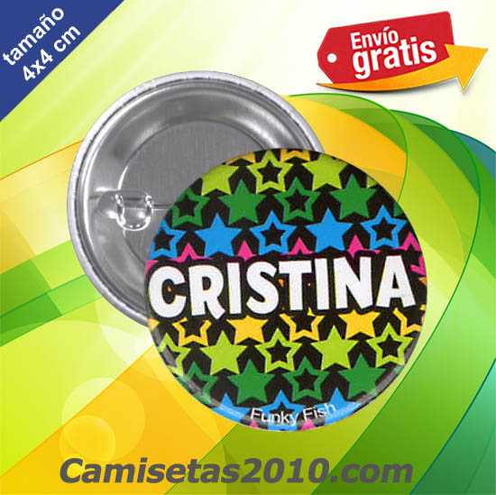 CHAPA PINS COLOR 4x4 CRISTINA