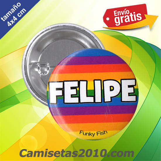CHAPA PINS COLOR 4cm FELIPE