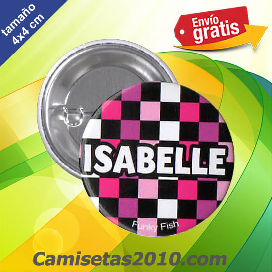 CHAPA PINS COLOR 4x4 ISABELLE