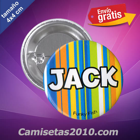 CHAPA PINS COLOR 4cm JACK