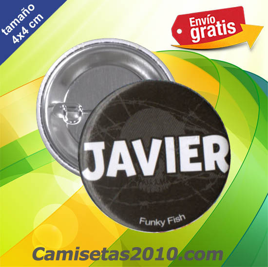 CHAPA PINS COLOR 4cm JAVIER