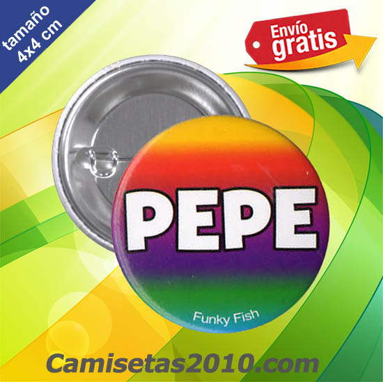 CHAPA PINS COLOR 4cm PEPE
