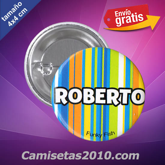 CHAPA PINS COLOR 4cm ROBERTO