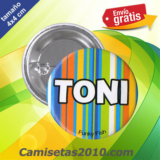 CHAPA PINS COLOR 4cm TONI
