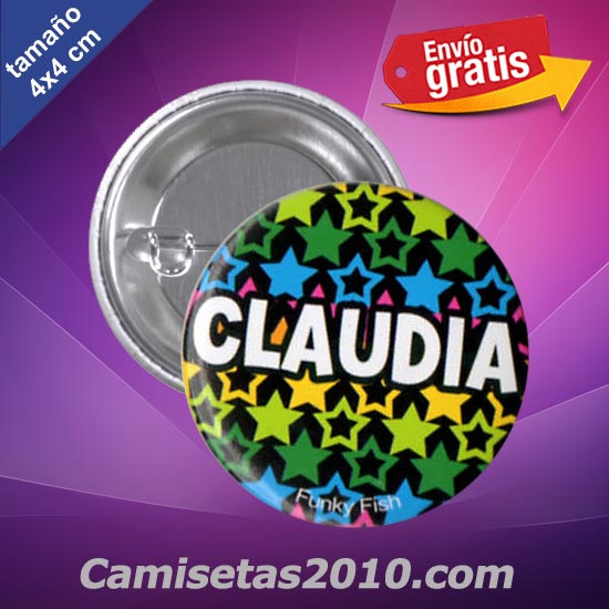 CHAPA PINS COLOR 4x4 CLAUDIA