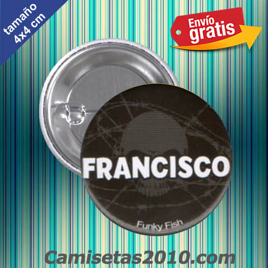 CHAPA PINS COLOR 4x4 FRANCISCO