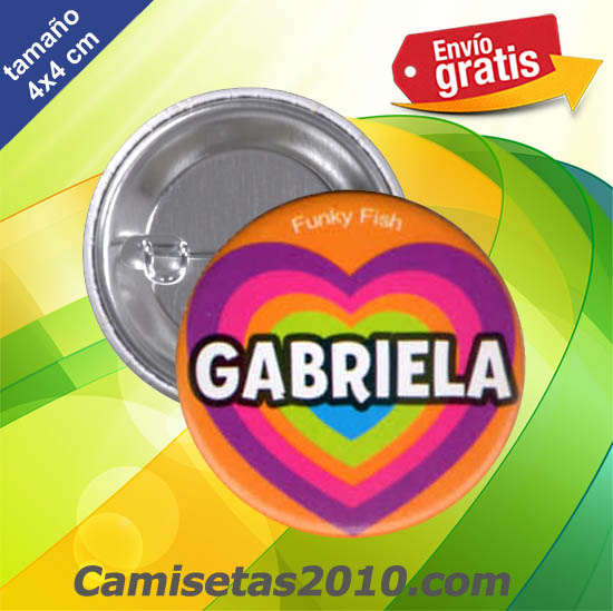 CHAPA PINS COLOR 4x4 GABRIELA