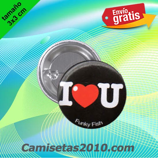 CHAPA PINS COLOR 3x3 LOVE YOU-