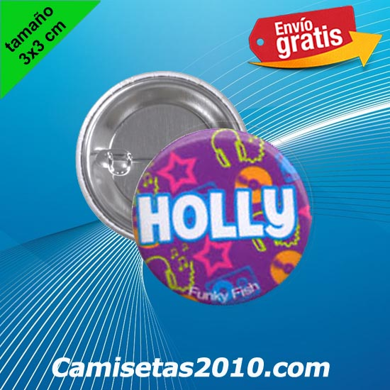 CHAPA PINS COLOR 3x3 HOLLY